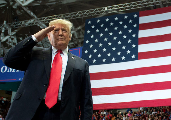 the-margin:-president-trump-appears-to-flout-his-own-rules-with-his-behavior-during-the-national-anthem-at-the-super-bowl