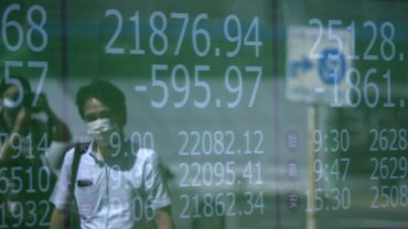asia-markets:-asian-markets-modestly-lower-after-wall-street's-tumble