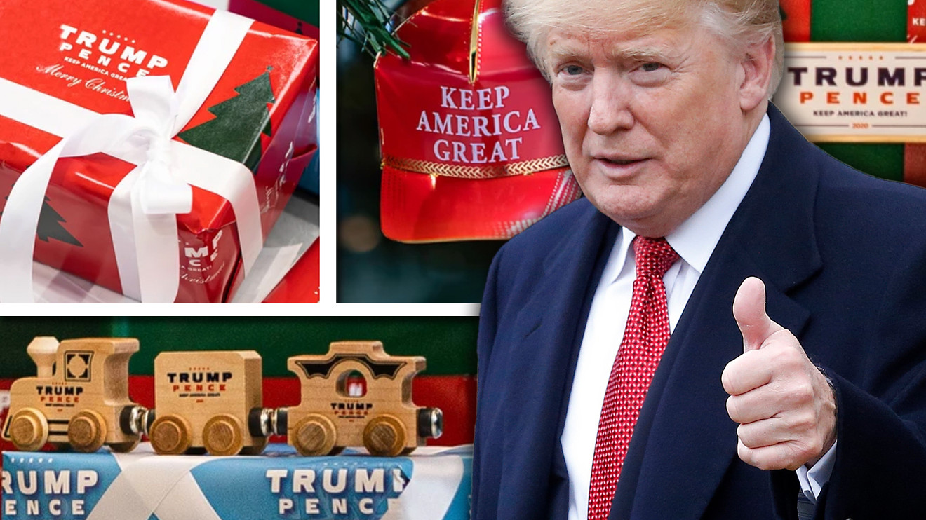 the-margin:-nothing-says-christmas-like-$30-trump-pence-wrapping-paper-and-$60-'keep-america-great'-ornaments