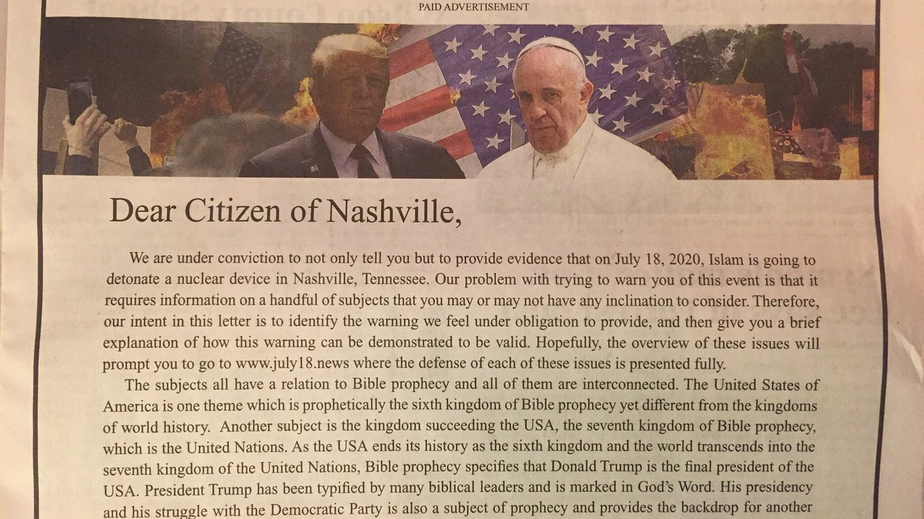 the-margin:-tennessee-newspaper-apologizes-for-'horrific'-ad-that-warns-'islam'-will-nuke-nashville
